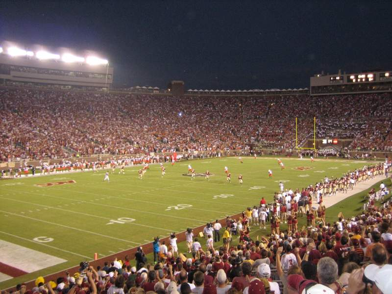 Seating view for Bobby Bowden Field at Doak Campbell Stadium Section 38 Row 26 Seat 17,18
