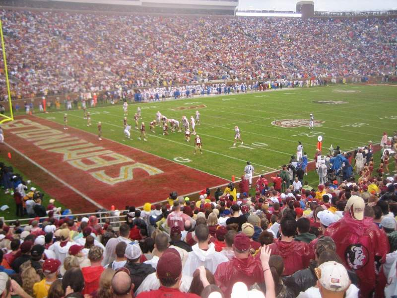 Seating view for Bobby Bowden Field at Doak Campbell Stadium Section 38 Row 26 Seat 17-18