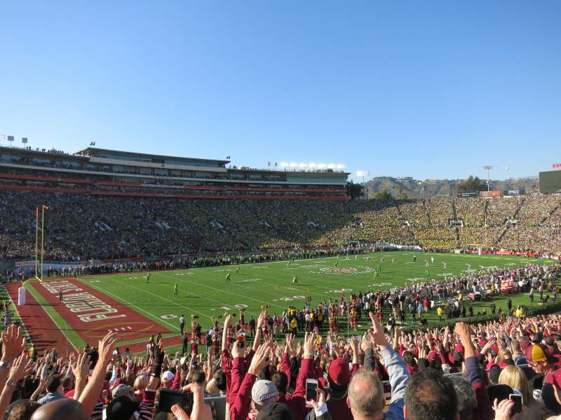 Seating view for Rose Bowl Section 1-H Row 35 Seat 107