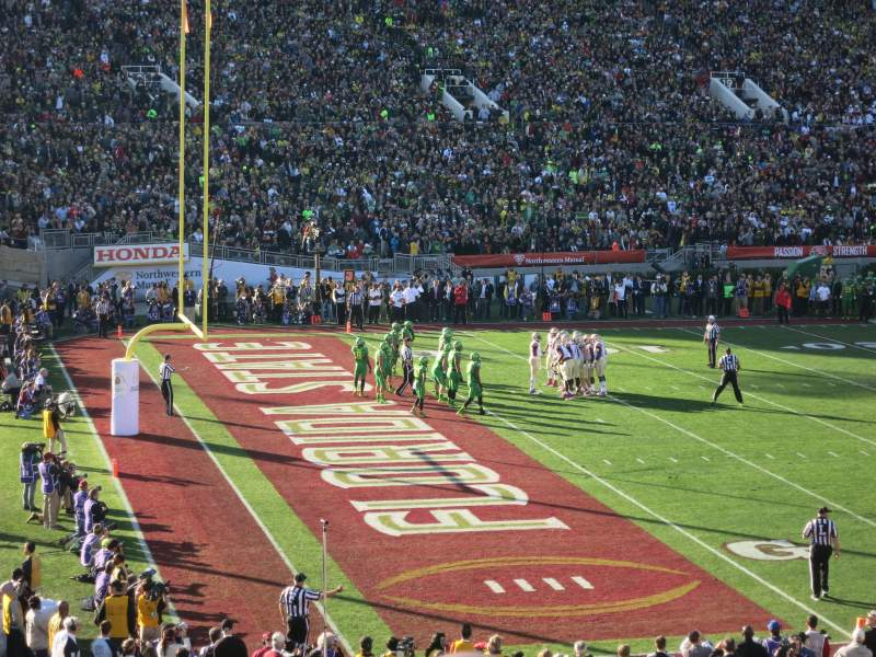 Seating view for Rose Bowl Section 1-H Row 35 Seat 107-108