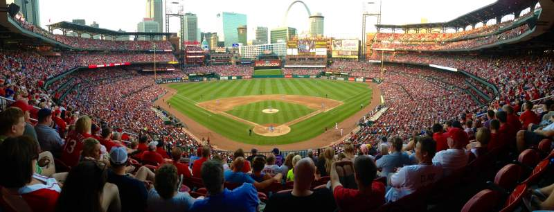 Seating view for Busch Stadium  Section 250 Row 8 Seat 13