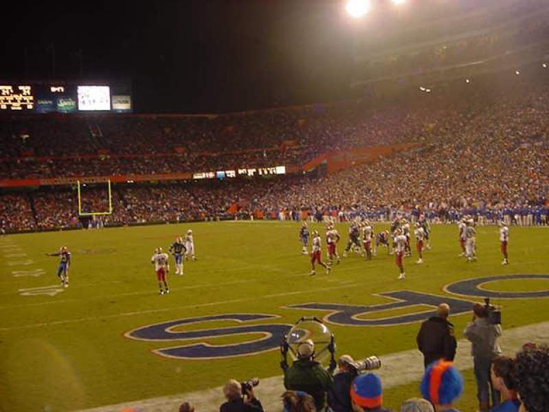 Seating view for Ben Hill Griffin Stadium Section F Row 7 Seat 5