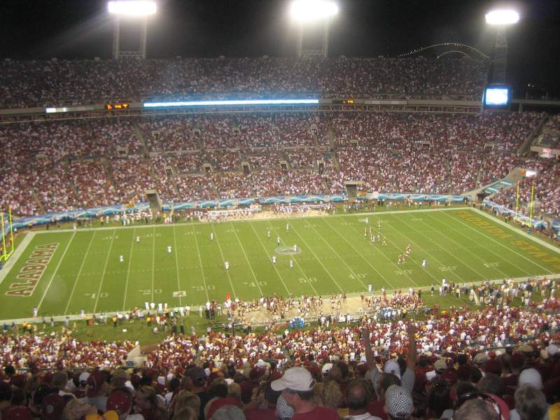 Seating view for EverBank Field Section 411 Row J Seat 5-6
