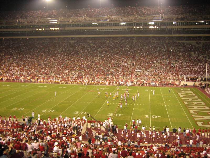 Seating view for Razorback Stadium Section 102 Row 38 Seat 5-6
