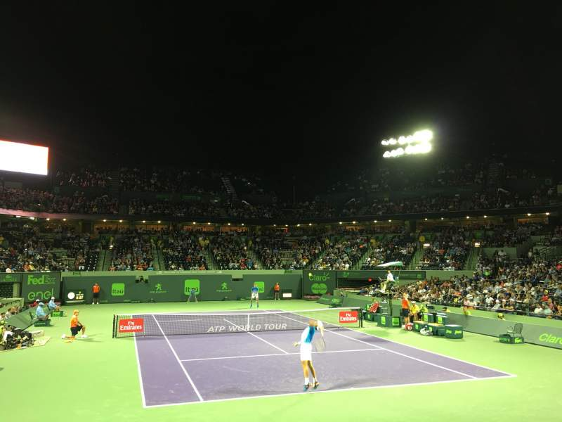 Seating view for Tennis Center at Crandon Park Section Box 124 Row A Seat 1,2