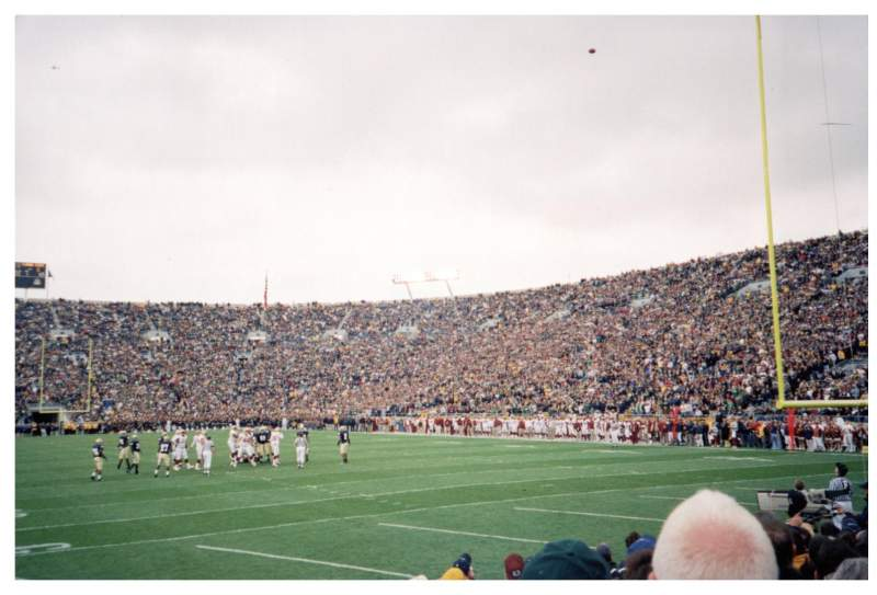 Seating view for Notre Dame Stadium Section 2 Row 9 Seat 9