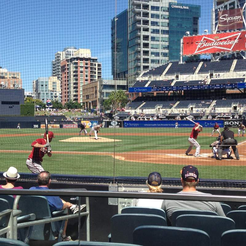 Seating view for PETCO Park Section 104 Row 8 Seat 5
