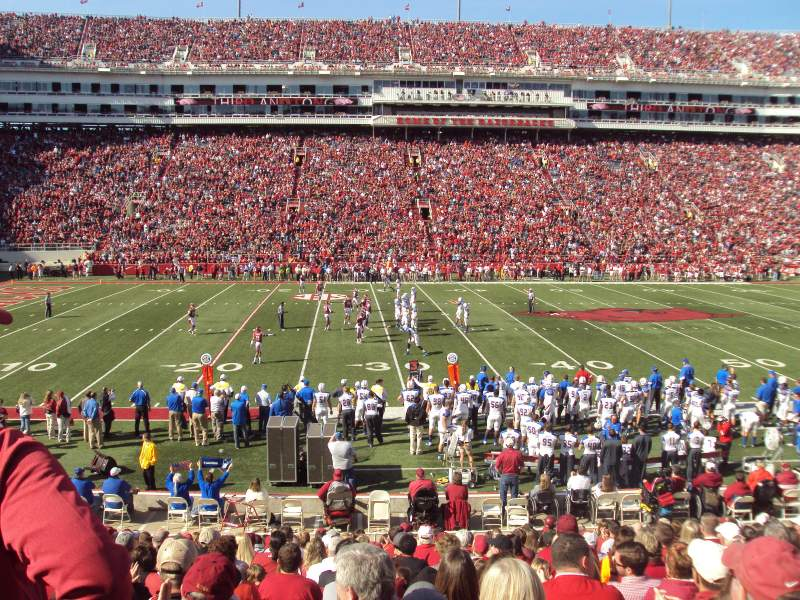 Seating view for Razorback Stadium Section 115 Row 18 Seat 14-15