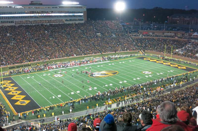 Seating view for Faurot Field Section 303 Row 6 Seat 6-7