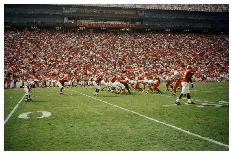 Seating view for Razorback Stadium Section Field Pass Row Field Pass Seat Field Pass