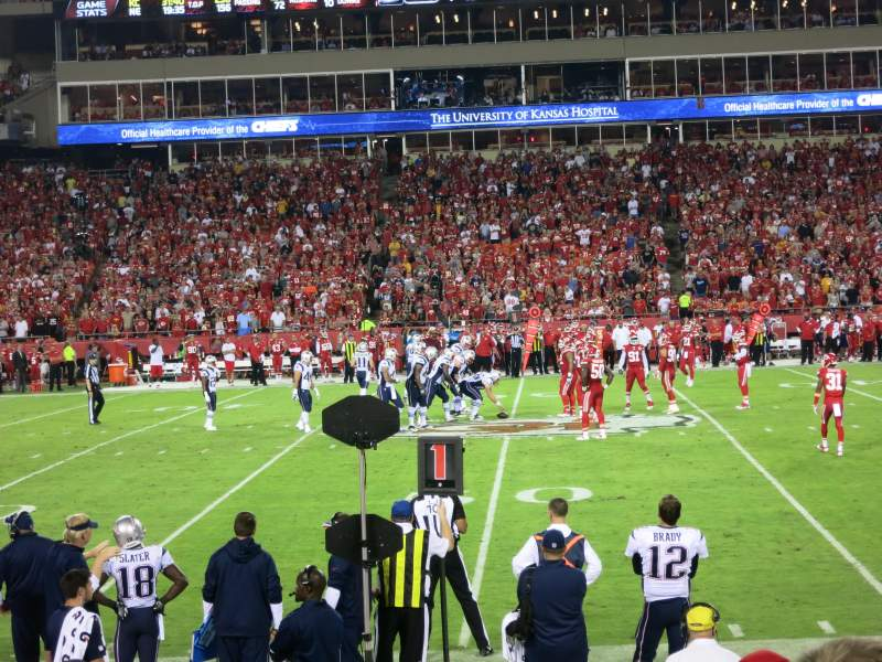 Seating view for Arrowhead Stadium Section 101 Row 7 Seat 8-9