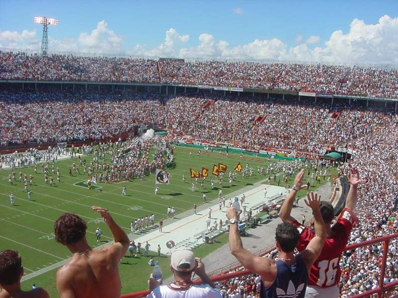 Seating view for Miami Orange Bowl
