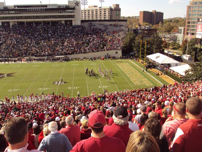Seating view for Vanderbilt Stadium Section u Row 56 Seat 15-16