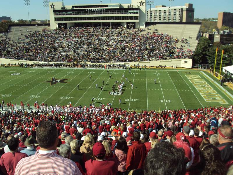 Seating view for Vanderbilt Stadium Section U Row 55 Seat 15-16
