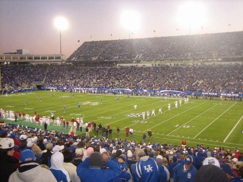 Kroger Field, section: 10, row: 33, seat: 2-3