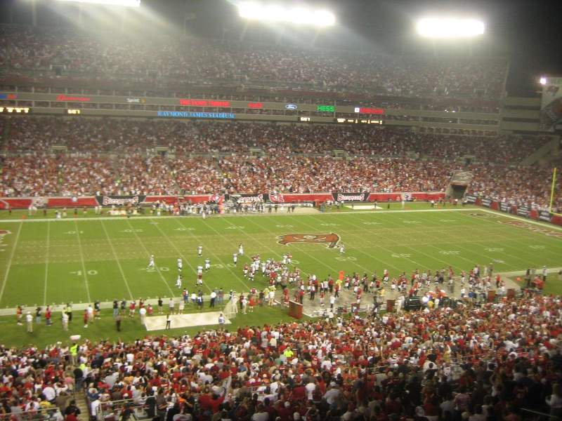 Seating view for Raymond James Stadium Section Suite 10 yd Line Home