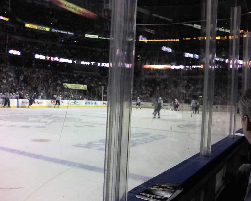 Seating view for Amalie Arena Section 117 Row A Seat 5