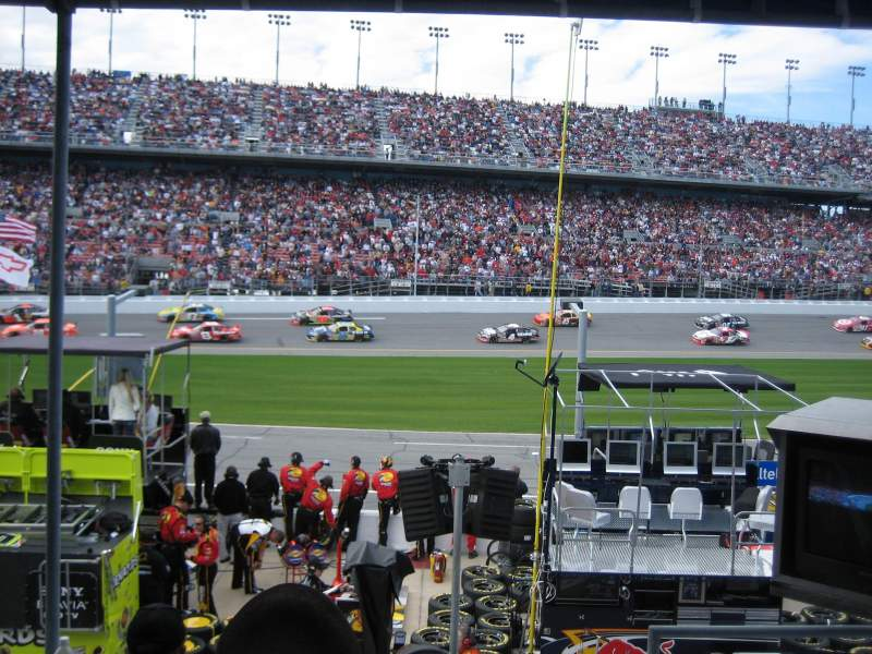 Seating view for Daytona International Speedway Section PIT PASS Row PIT PASS