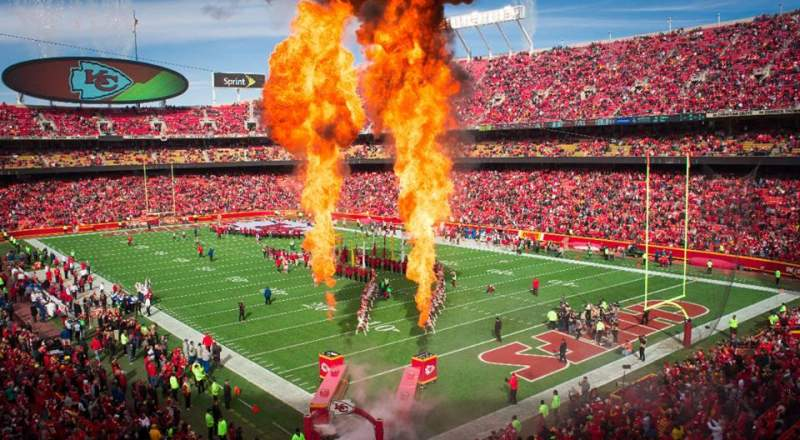 Seating view for Arrowhead Stadium Section 217 Row 1 Seat 1-2