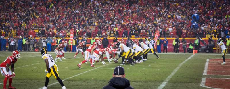 Seating view for Arrowhead Stadium Section 114 Row 1 Seat 10