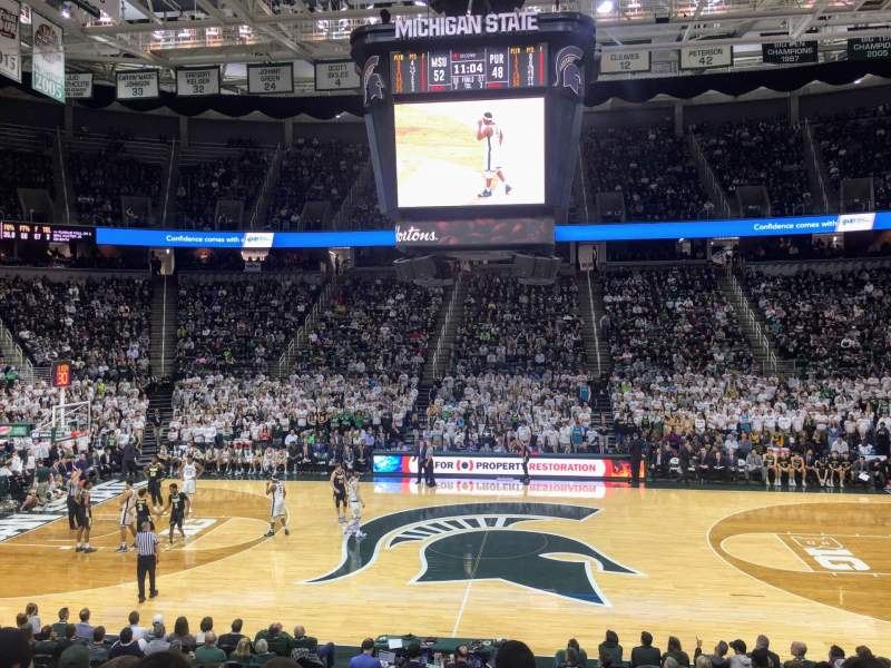 Seating view for Breslin Center Section 127 Row 19 Seat 2