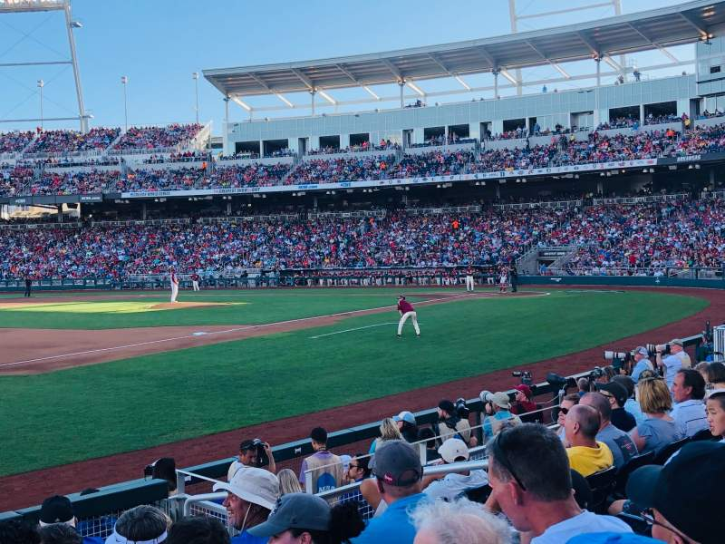 Seating view for TD Ameritrade Park Section 120 Row 9 Seat 6