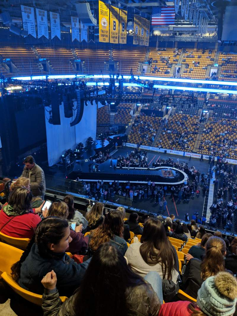 Seating view for TD Garden Section BAL 316 Row 13 Seat 13