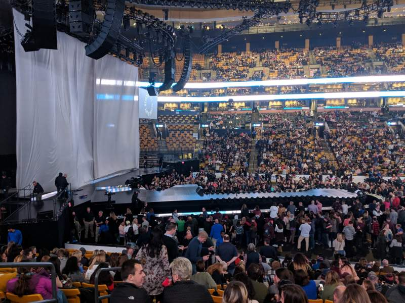Seating view for TD Garden Section LOGE 13 Row 17 Seat 11