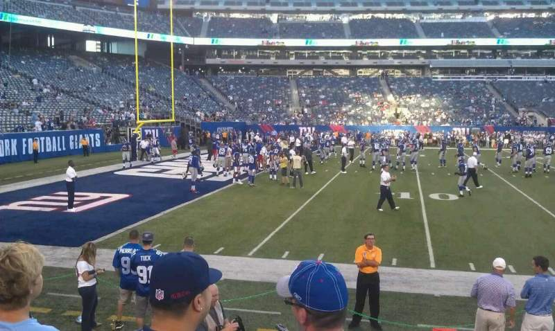 Seating view for MetLife Stadium Section 116 Row 3 Seat 14