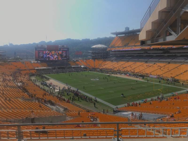 Seating view for Heinz Field Section NC-003 Row B Seat 10