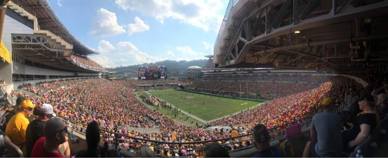 Seating view for Heinz Field Section NC-003 Row B Seat 8-11