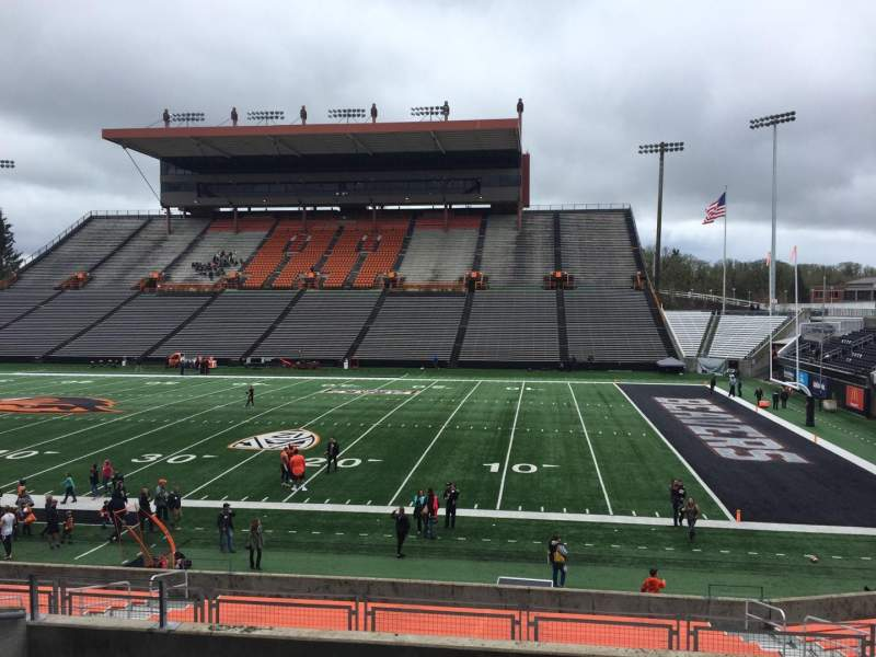 Seating view for Reser Stadium Section 113 Row 20 Seat 15