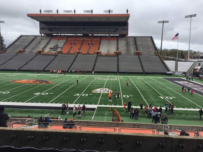 Seating view for Reser Stadium Section 114 Row 20 Seat 14