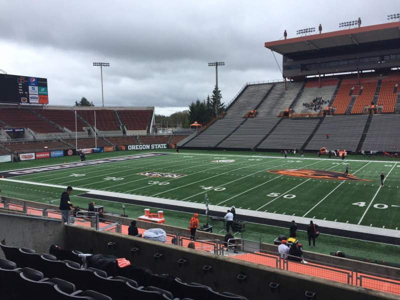 Seating view for Reser Stadium Section 115 Row 20 Seat 13