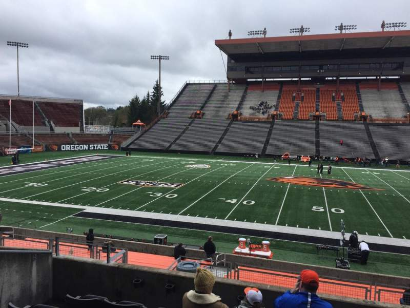 Seating view for Reser Stadium Section 116 Row 20 Seat 14