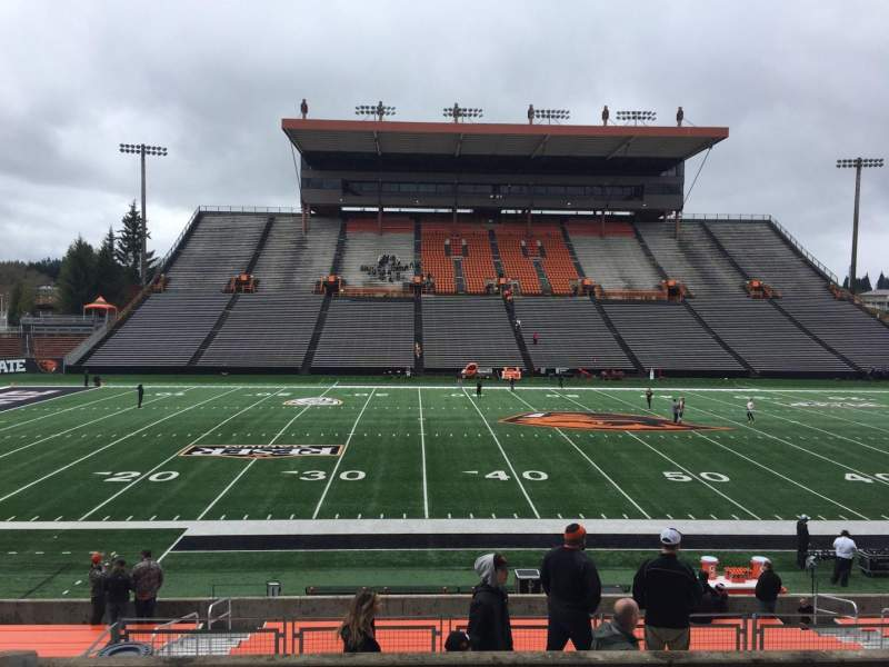 Seating view for Reser Stadium Section 117 Row 20 Seat 13
