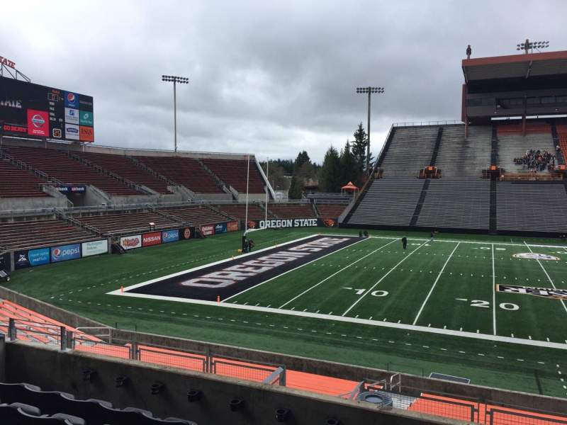 Seating view for Reser Stadium Section 118 Row 20 Seat 12