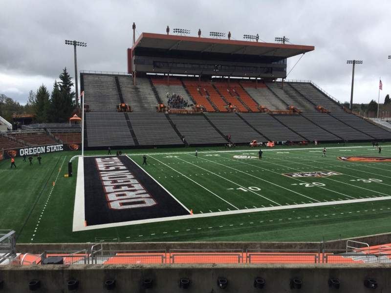 Seating view for Reser Stadium Section 120 Row 20 Seat 15