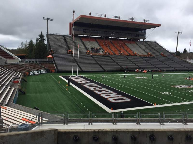 Seating view for Reser Stadium Section 121 Row 20 Seat 10