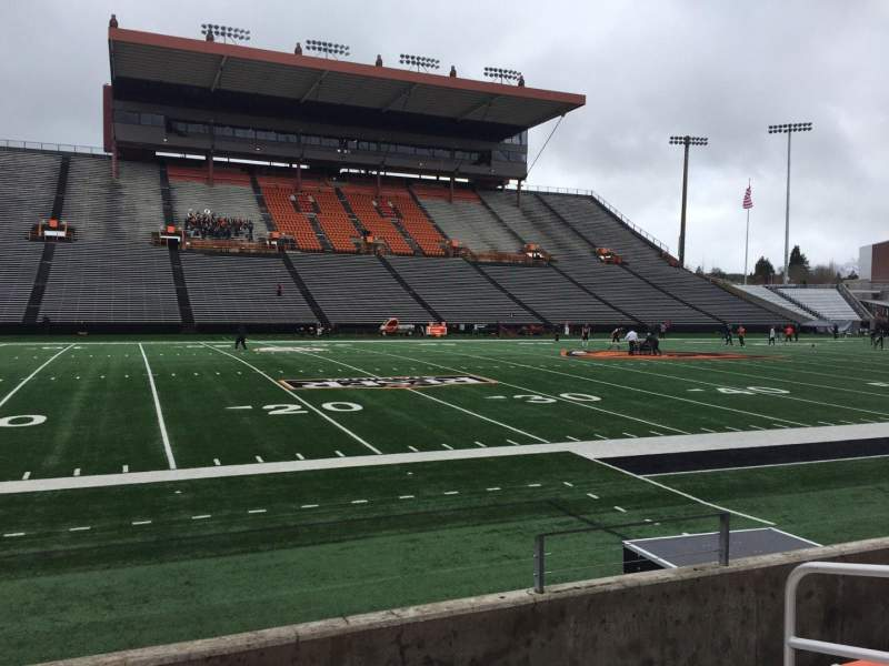 Seating view for Reser Stadium Section 119 Row 5 Seat 5