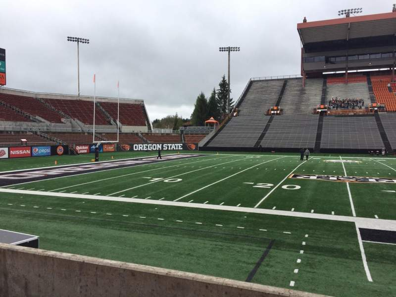 Seating view for Reser Stadium Section 118 Row 5 Seat 11
