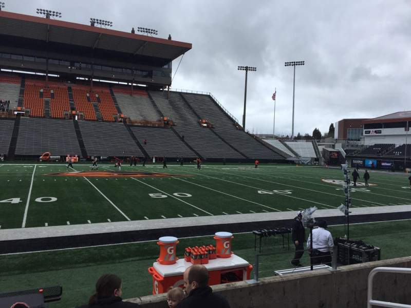 Seating view for Reser Stadium Section 117 Row 5 Seat 5