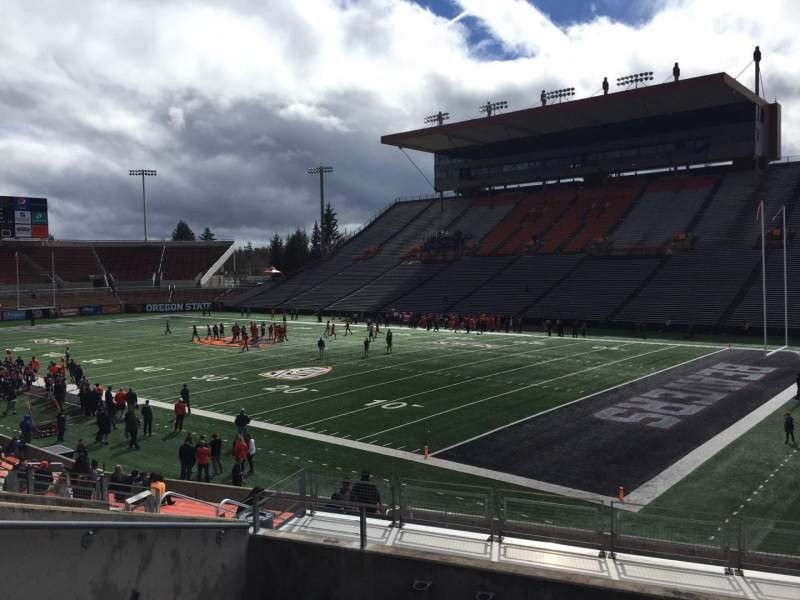 Seating view for Reser Stadium Section 111 Row 20 Seat 18