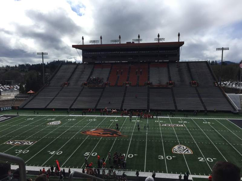 Seating view for Reser Stadium Section 217 Row 6 Seat 20