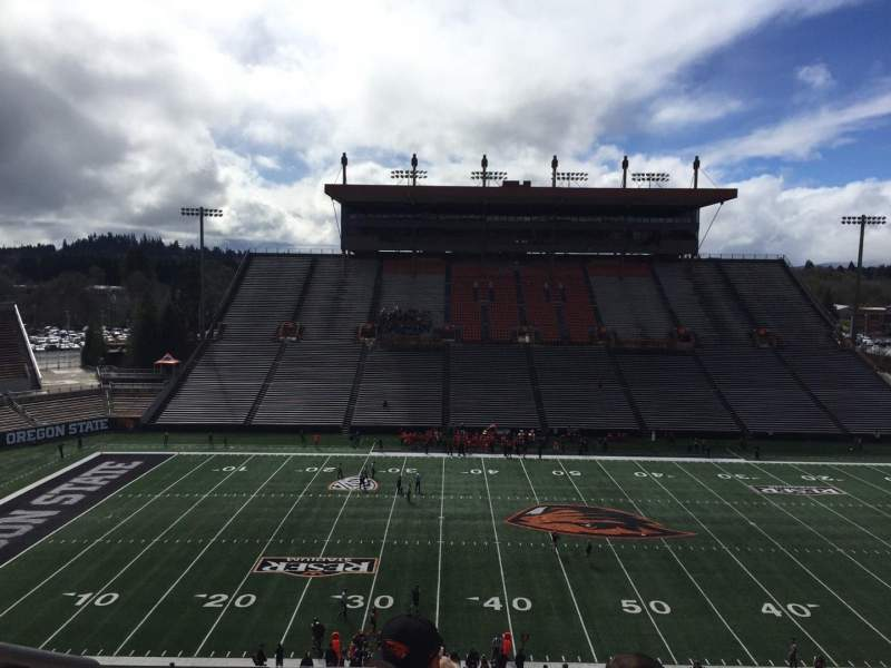 Seating view for Reser Stadium Section 220 Row 7 Seat 16