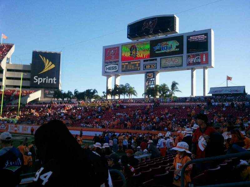 Seating view for Raymond James Stadium Section 113 Row f