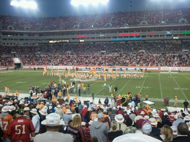 Seating view for Raymond James Stadium Section 112