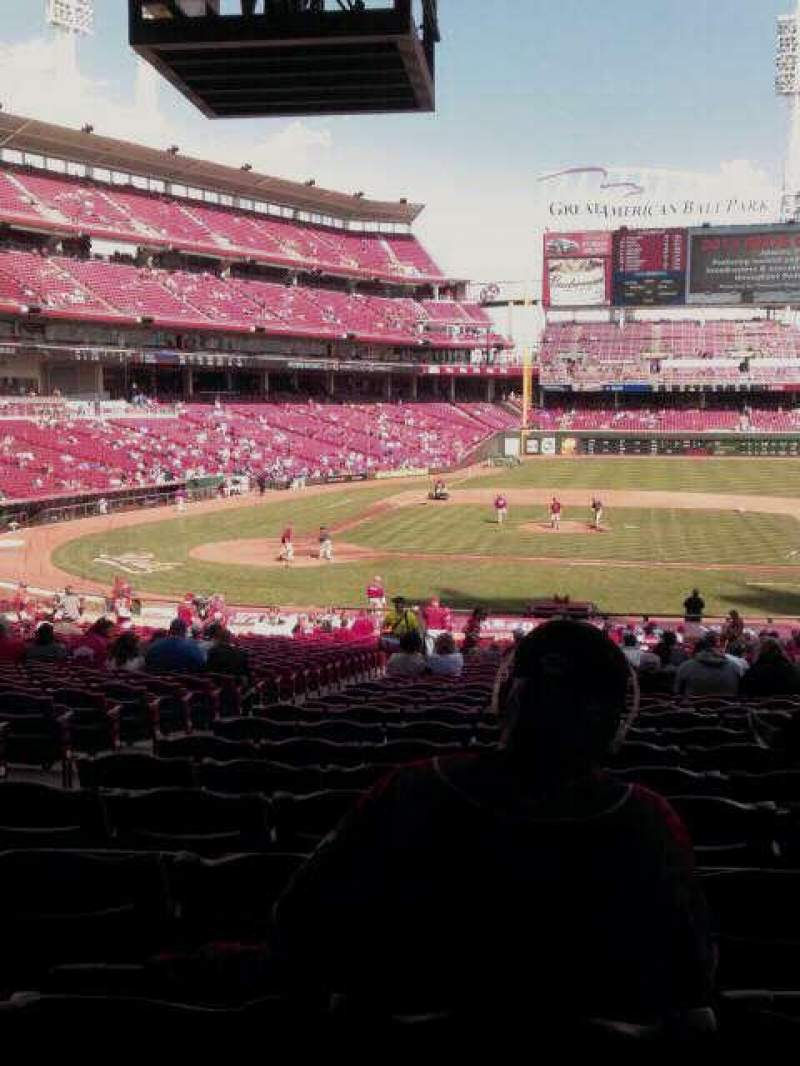 Seating view for Great American Ball Park Section 129 Row LL Seat 12