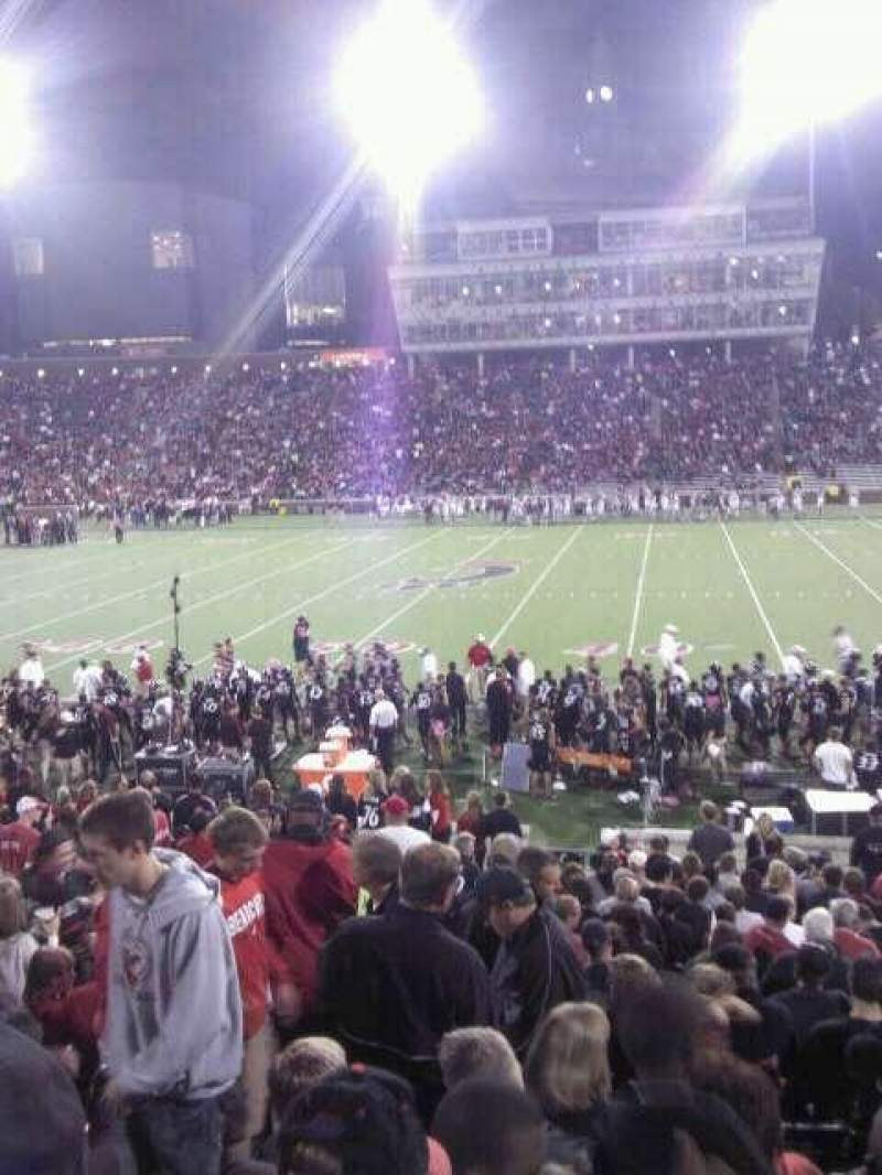 Seating view for Nippert Stadium Section 105 Row 26 Seat 19