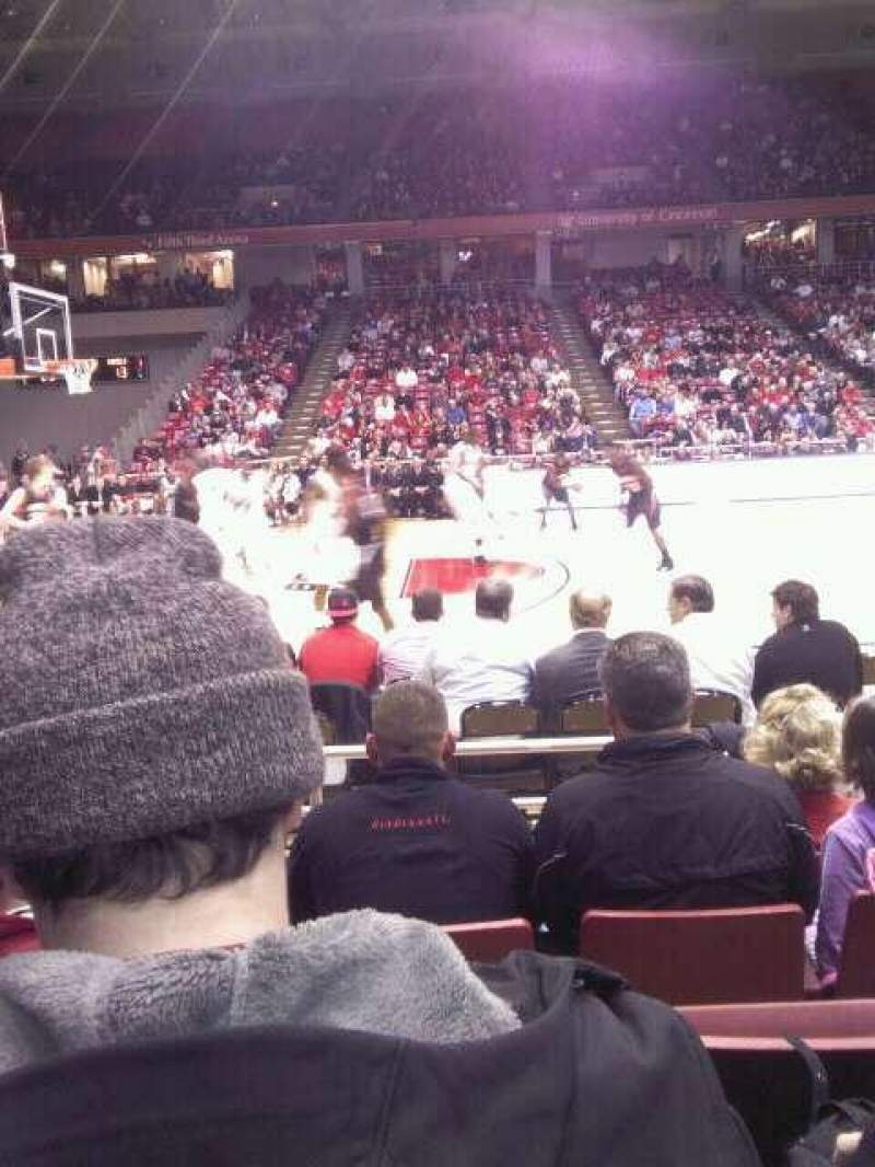 Seating view for Fifth Third Arena Section 106 Row 5